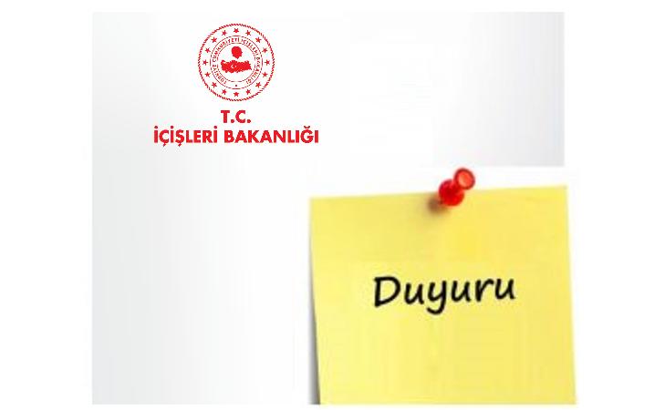 23-24-25-26 Nisan Tarihlerinde Uygulanacak Sokağa Çıkma Kısıtlaması (30 Büyükşehir ve Zonguldak İlinde)