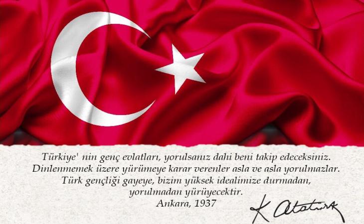 19 Mayıs Atatürk' ü Anma, Gençlik ve Spor Bayramı Kutlu Olsun