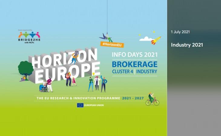 Ufuk Avrupa Programı Küme 4 Çevrimiçi Proje Pazarı Etkinliği 1 Temmuz 2021